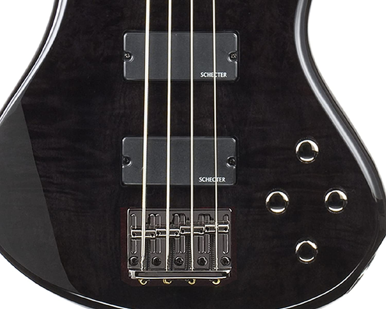 4 String, Black Cherry Schecter Stiletto Extreme-4 Bass Guitar