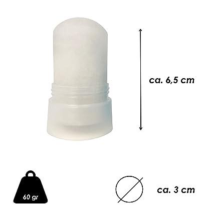 Desodorante de Piedra de Alumbre en stick - Puro Mineral - Cristal de Alumbre de Potasio 120 gr - Desodorante 100% natural - Desodorante sin Parabenos sin ...