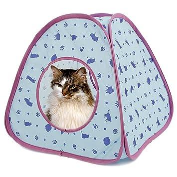 QianHaoQJu Tienda de campaña para mascotas Tabernáculo de gatos para animales pequeños y medianos 2 Elecciones muy lindas (Color : TENT Blue): Amazon.es: ...