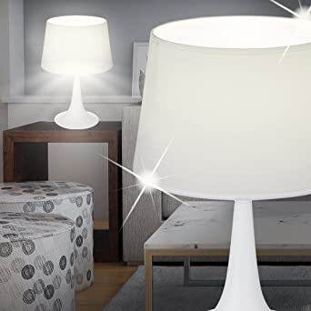 Mia Light Schirm Tisch Leuchte ↥235mm/ Led/ Stoff/ Grau/ Stoff/ Textil/ Nacht La Büromöbel