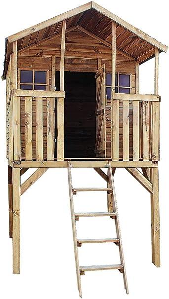 Avanti Trendstore - Casita de madera para jardín (152 x 275 x 181 cm): Amazon.es: Hogar