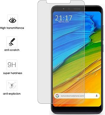 Tumundosmartphone Protector Cristal Templado para XIAOMI REDMI 5 Plus Vidrio: Amazon.es: Electrónica