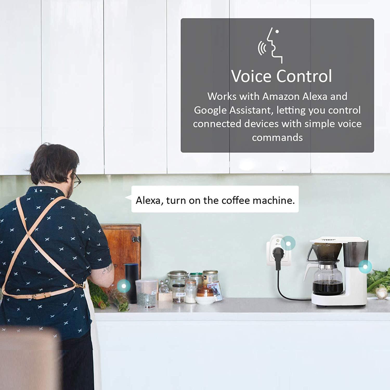 Enchufe Inteligente para controlar Sus Dispositivos Desde Cualquier Lugar TP-Link 2 Pack sin Necesidad de concentrador Funciona con  Alexa y Google Home e IFTTT HS100