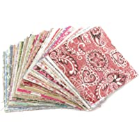 SODIAL(R) 100Pcs 10x10cm Square Floral Cotton Fabric Patchwork Cloth For DIY Craft Sewing