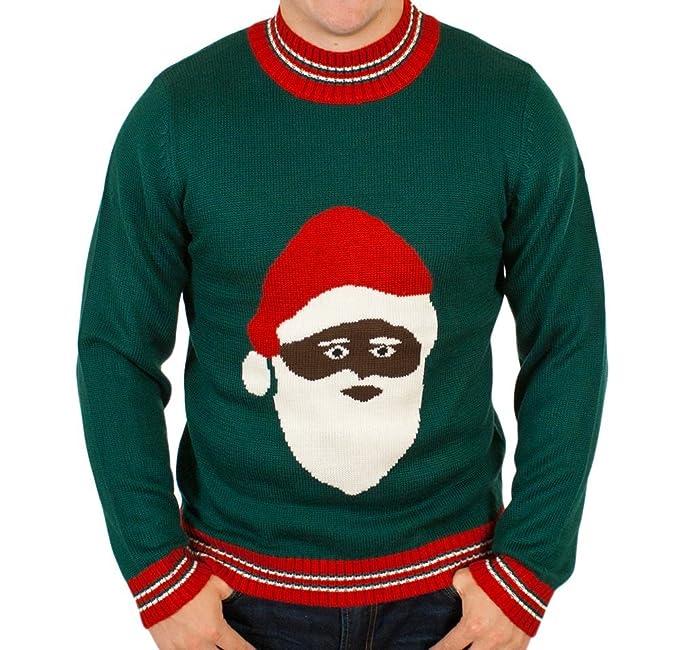 ugly christmas sweater black santa clause holiday sweater by festified 5x large - Ugly Christmas Sweater Ebay