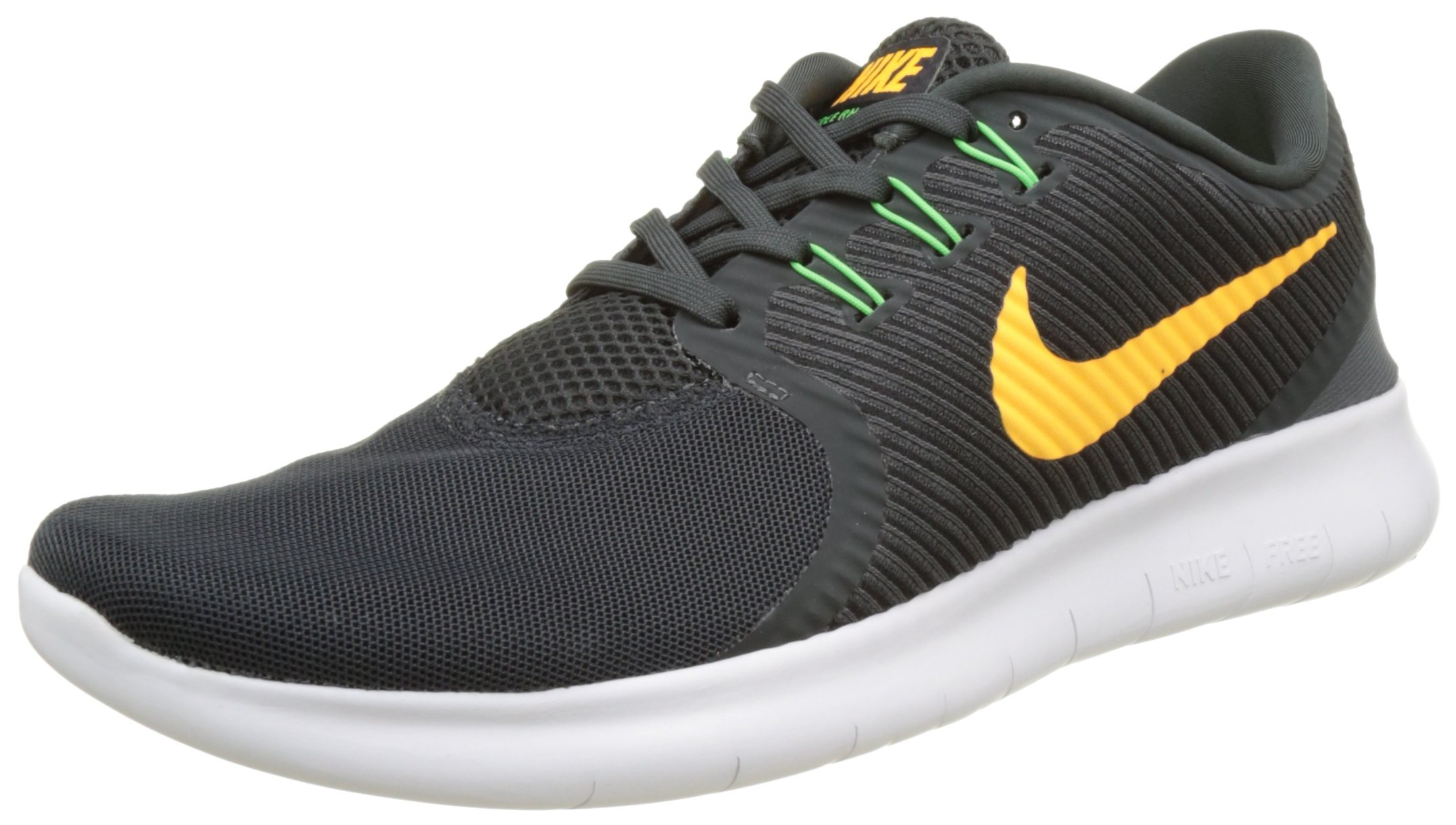 Nike Free RN Commuter Lightweight Sneakers Durability Comfortable Men's Running Shoes (13 M US, Anthracite Laser Orange 008) by NIKE