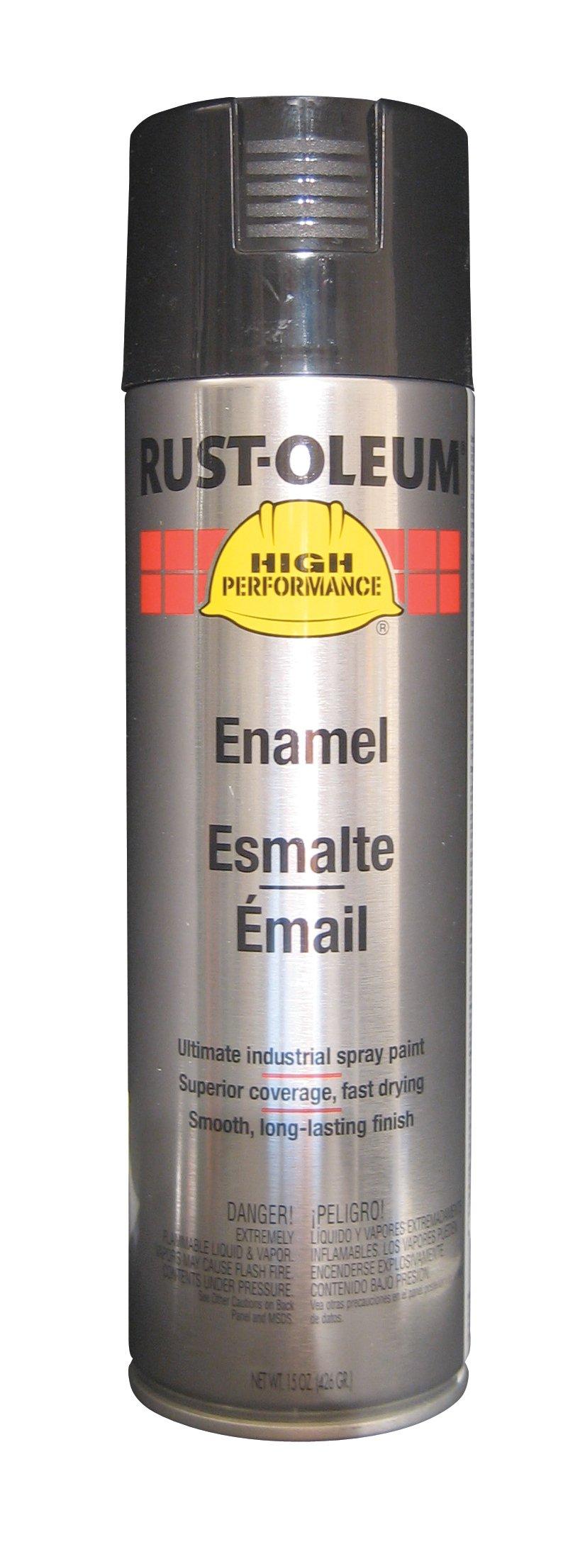 Rust-Oleum V2179838 High Performance V2100 System Rust Preventive Enamel Spray Paint,  20 fl. oz. container, 15 oz. fill,, Black, 6-Pack