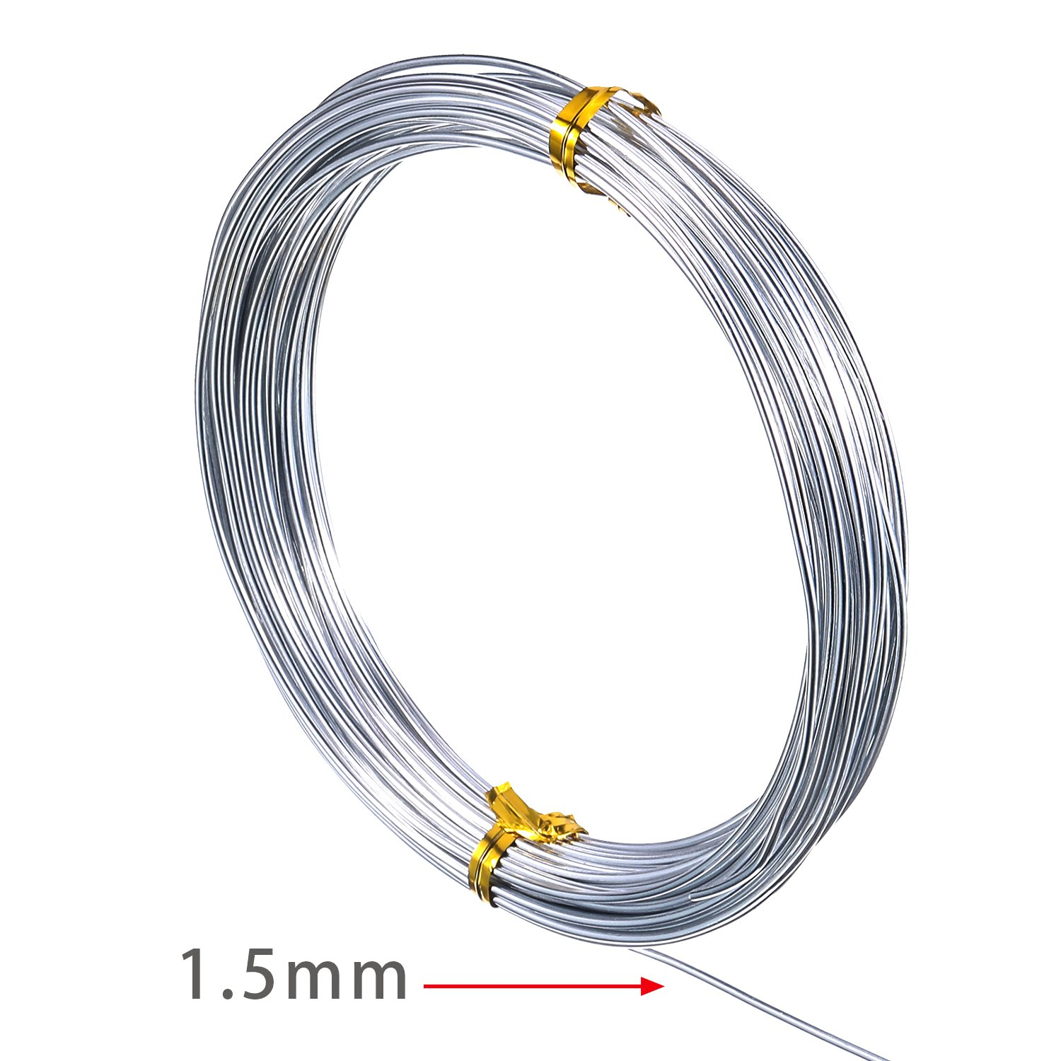 Amazon.com: TecUnite 65.6 Feet Silver Aluminum Craft Wire, Soft and ...