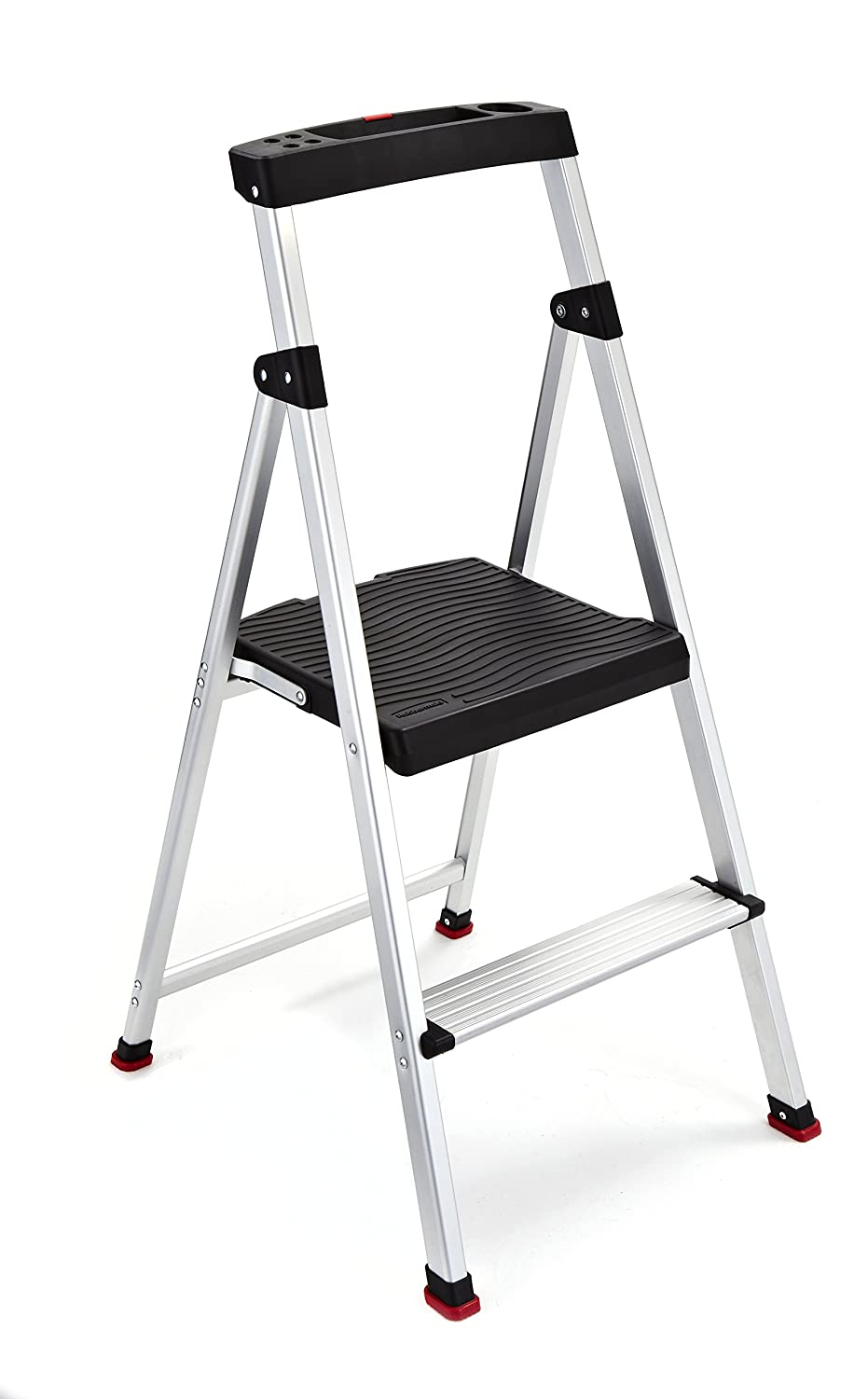 Rubbermaid RMA-2 2-Step Lightweight Aluminum Step Stool with Project Top Tricam
