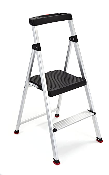 Astonishing Rubbermaid Rma 2 2 Step Lightweight Aluminum Step Stool With Project Top 225 Pound Capacity Inzonedesignstudio Interior Chair Design Inzonedesignstudiocom