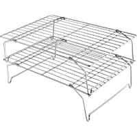 """TeamFar Cooling Rack, 15""""x10"""" Stainless Steel Wire Baking Rack for Roasting Broiling Cooking, Dishwasher & Oven Safe…"""