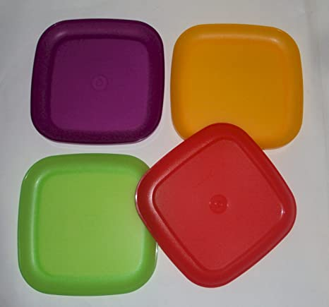Tupperware 8 Inch Square Plates New Colors Hard-to-Find & Amazon.com | Tupperware 8 Inch Square Plates New Colors Hard-to-Find ...