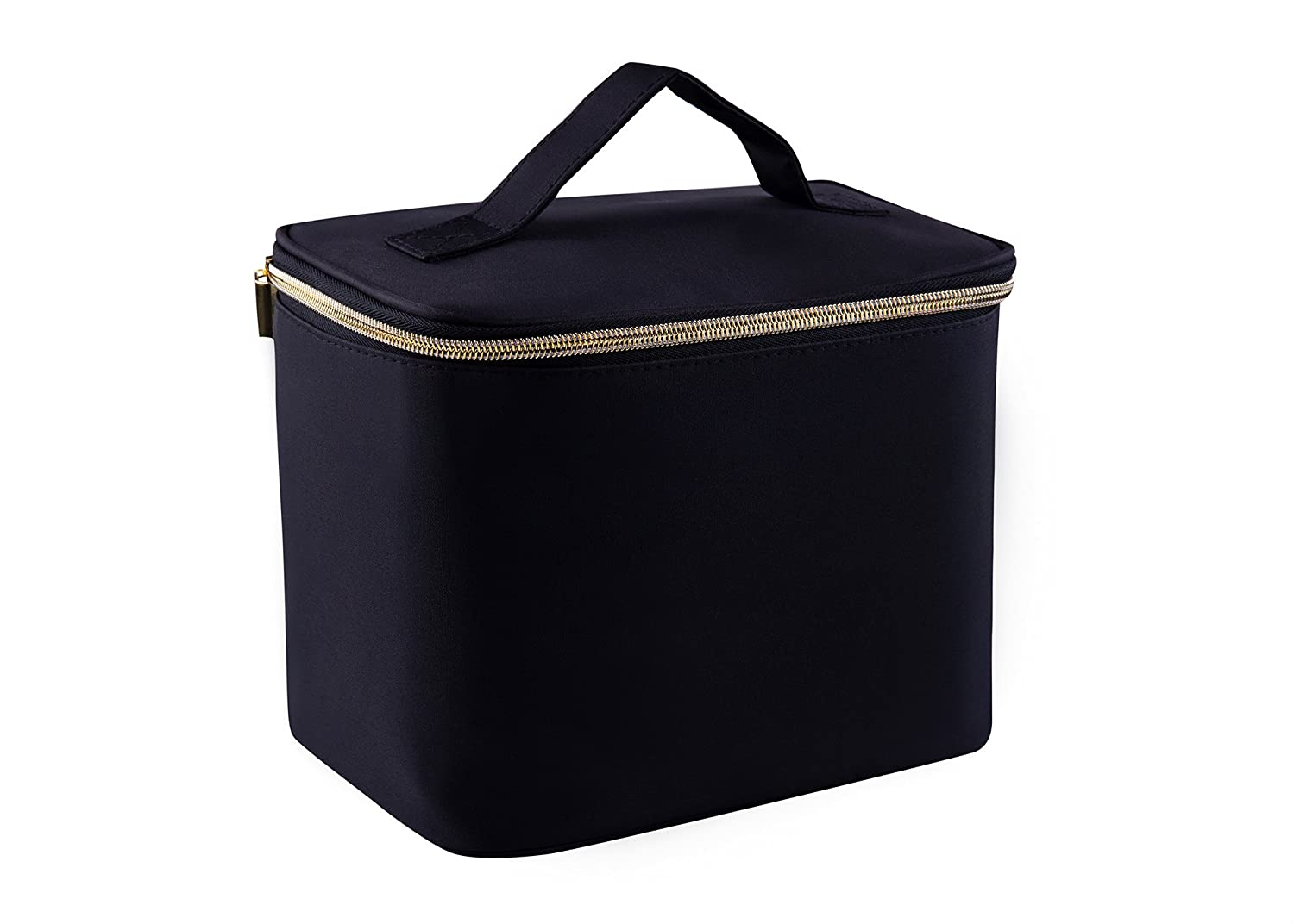 Women Large Cosmetic Beauty Makeup Bag for Travel Toiletry Case Organizer Black CleverBird