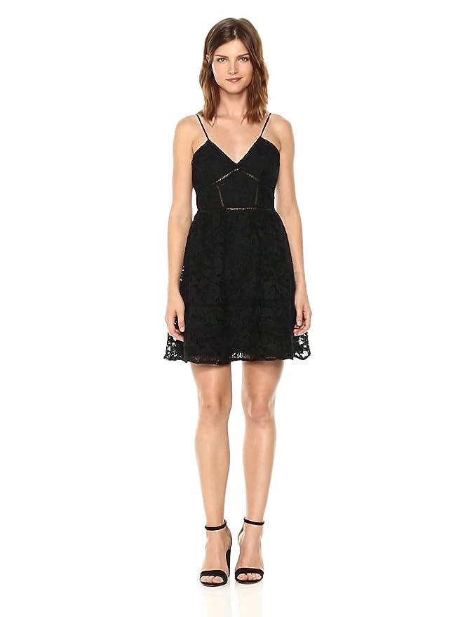 5adb583eb9a BB Dakota Women s Sutton Fit N Flare Lace Dress at Amazon Women s Clothing  store