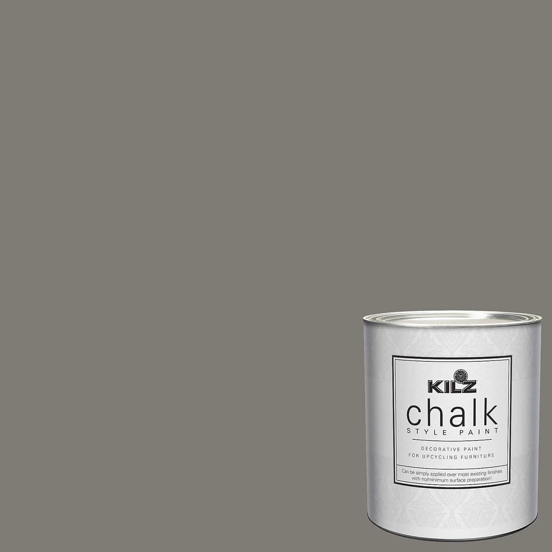 KILZ 00004204 Interior Chalk Style Ultra Flat Decorative Paint for Furniture, 1 Quart, Smokey Eyes