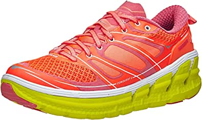 Hoka One One - Zapatillas de running para mujer Conquest 2, de color ácido/cascada, 38,5 (M): Amazon.es: Zapatos y complementos