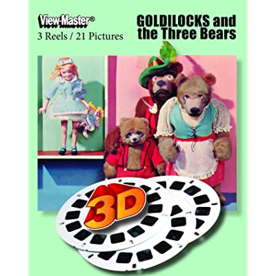 ViewMaster- Goldilocks and the Three Bears - 3 Reels on Card - Classic clay Figure Art NEW: Toys & Games