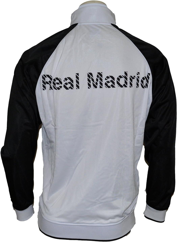 Real Madrid chaqueta de chándal (blanco/negro/rosa) pequeño ...