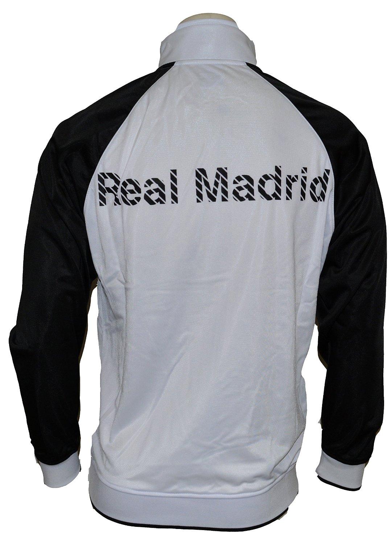 Real Madrid chaqueta de chándal (blanco negro rosa) pequeño  Amazon.es   Deportes y aire libre f8c05bf4b6e20