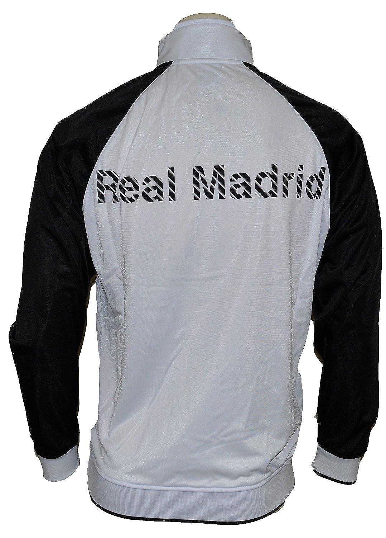 Amazon.com: Real Madrid chamarra de pista (Blanco/Negro/Rosa ...