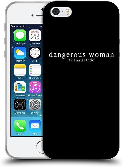 Head Case Designs Licenza Ufficiale Ariana Grande Testo Donna Pericolosa Cover in Morbido Gel Compatibile con Apple iPhone 5 / iPhone 5s / iPhone SE ...