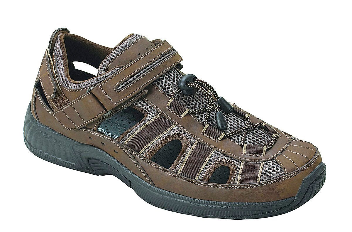 Orthofeet Plantar Fasciitis Heel Pain Relief Arch Support Orthopedic Diabetic Mens Sandals Clearwater Brown by Orthofeet
