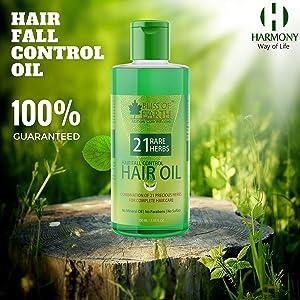Bliss of Earth™ Hair Fall Control Hair Oil With 21 Rare Herbs   100ML   For Hair Fall, Grey Hair, Dandruff, Dry & Dull Hair