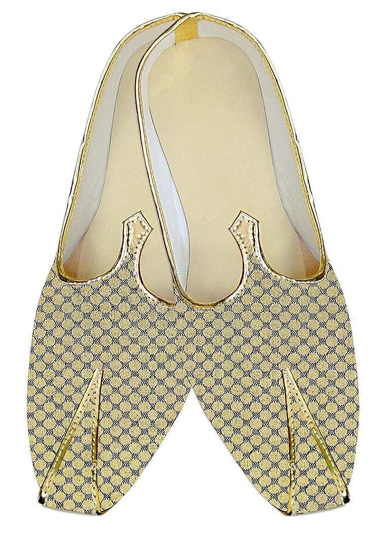 INMONARCH Boda de Poliéster Amarillo Hombres Diseñador de Calzado MJ14097 44 EU