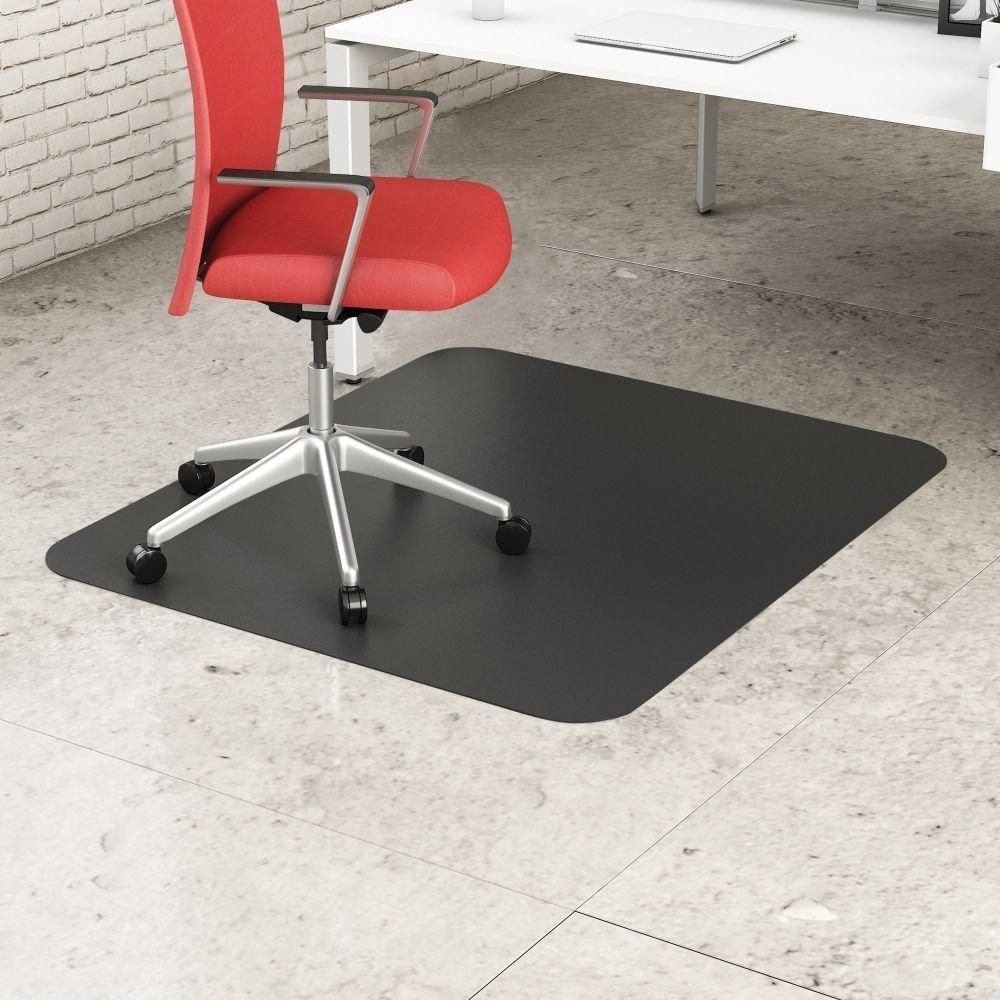 Deflect-o Black Mat 45`` x 53`` Rectangle-Hard Floor - DEFCM21242BLK ##buydmi by lovithanko