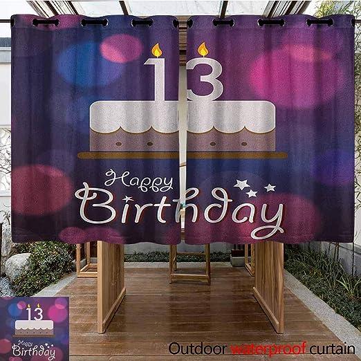 AndyTours - Cortina de pérgola para Fiesta de cumpleaños de 100 años con imágenes Coloridas de Puntos de Felicidad, para Patio o Porche Frontal: Amazon.es: Jardín