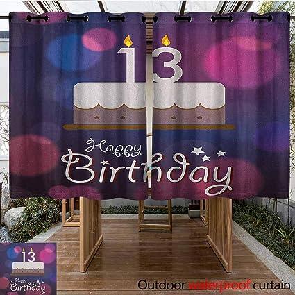 Amazon.com: AndyTours Cortina de pérgola, 100 cumpleaños ...