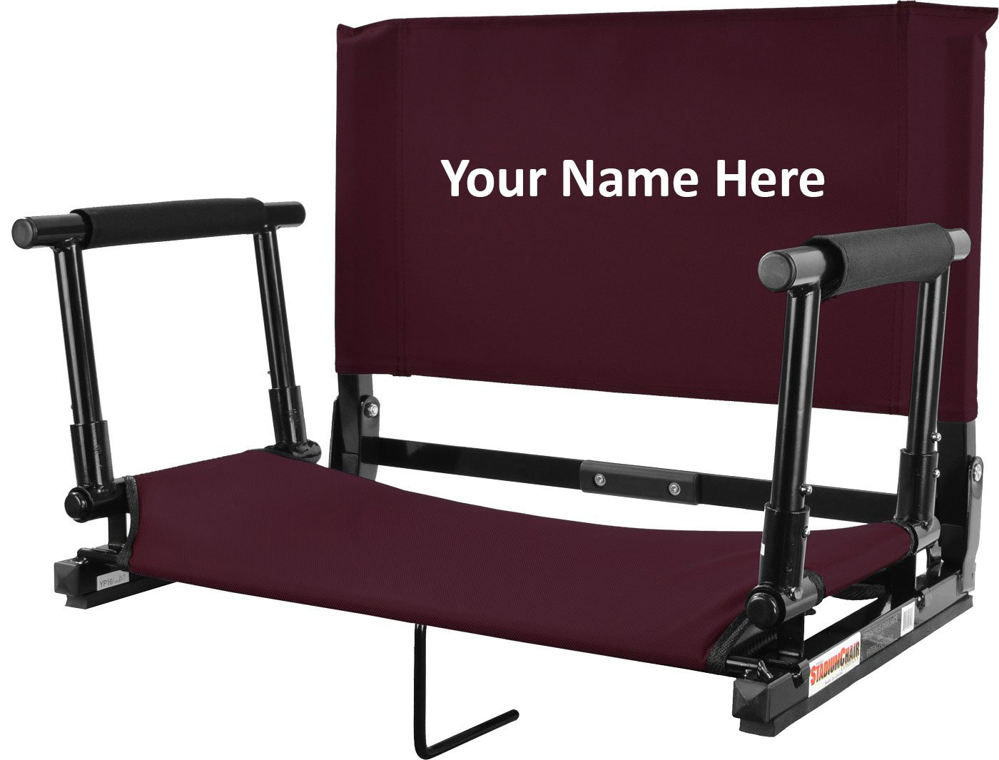 Personalized刺繍新しいデラックスWide Stadium椅子Gamechanger Bleacher Seat with Optional Arms B01N0C1NAH Maroon with Arms Maroon with Arms