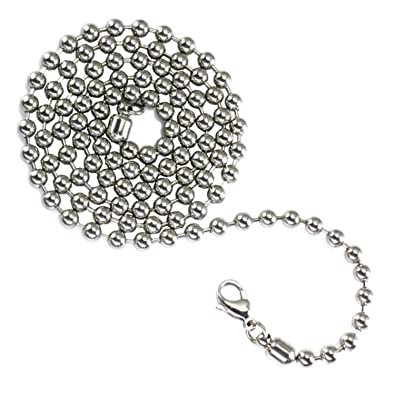 Amazon.com: Acero inoxidable 4,5 mm Bead/Cadena De Bolas ...