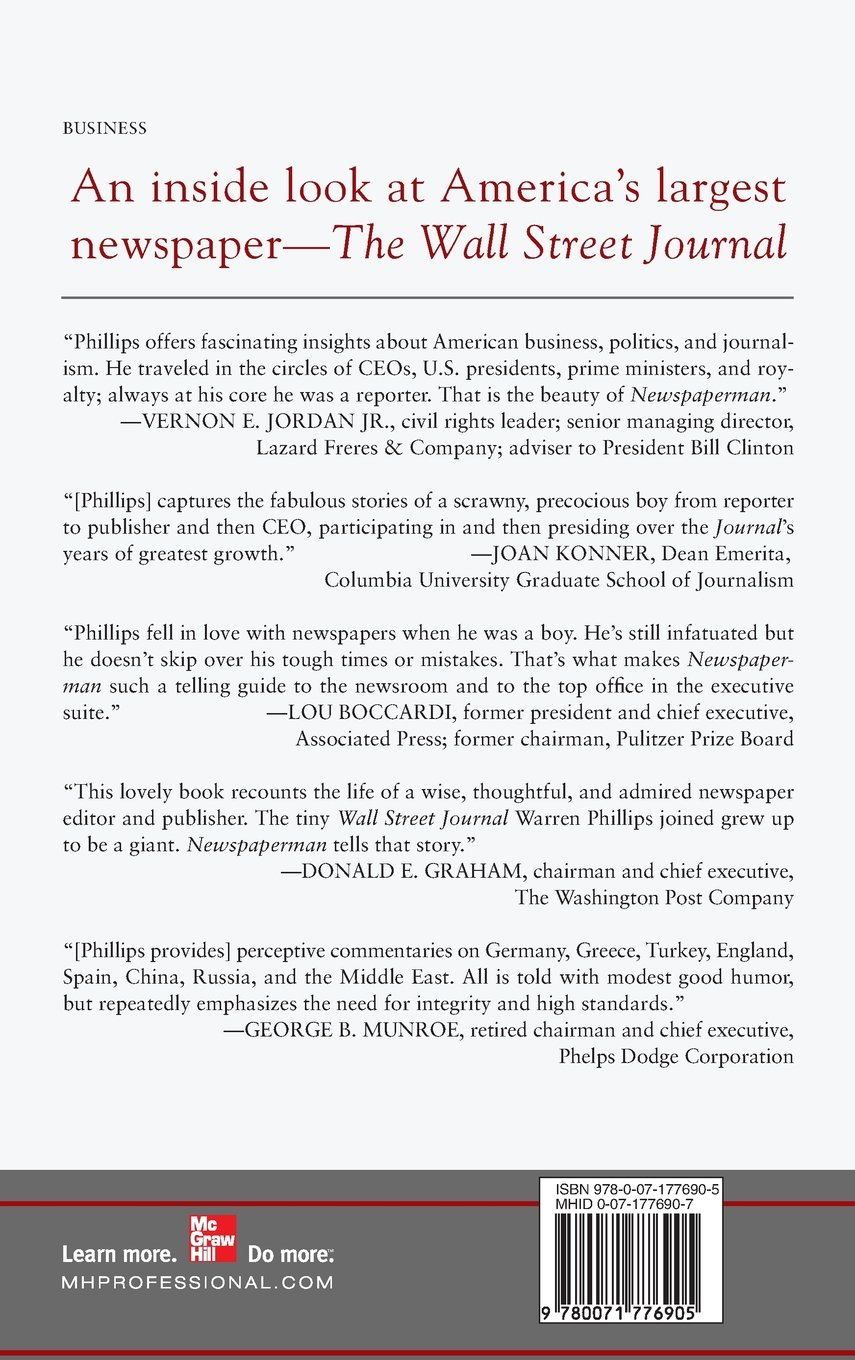 Newspaperman: Inside the News Business at The Wall Street Journal by McGraw-Hill Education