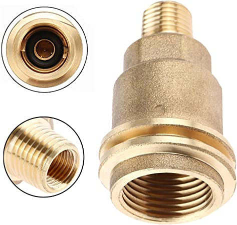 Propane Gas Fitting Adapter with 1//4 Inch Male Pipe Thread Brass
