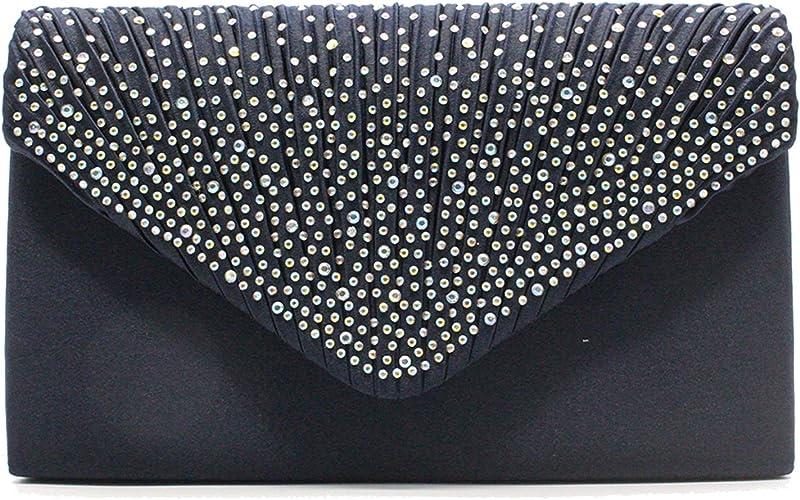 Tavie Womens Glitter Clutches Handbag Crossbody Bag Sparkly Envelope Purse Prom Evening Bags