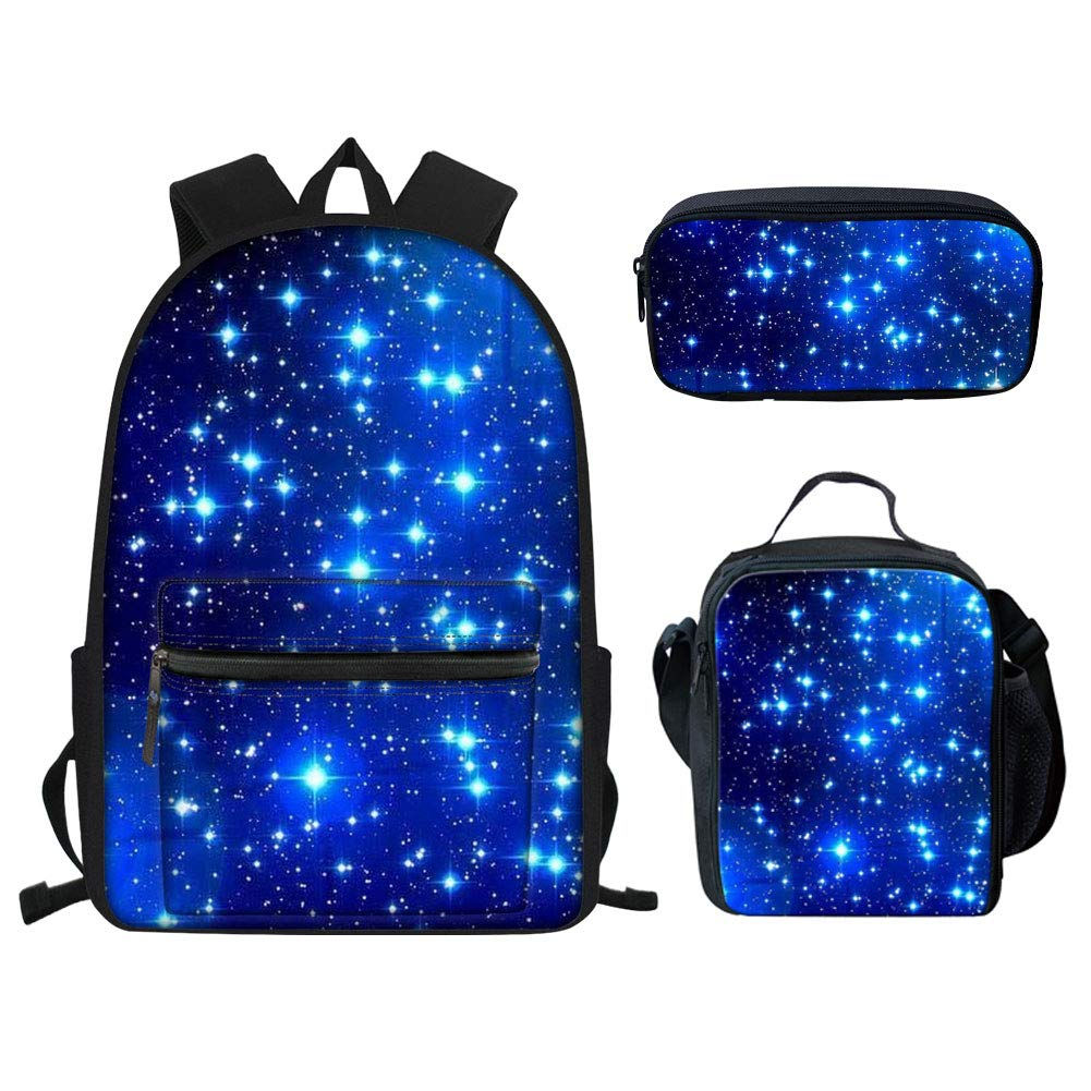 b05cfbeff543 Amazon.com | Upetstory Galaxy Bookbags and Lunch Box Set Kids ...