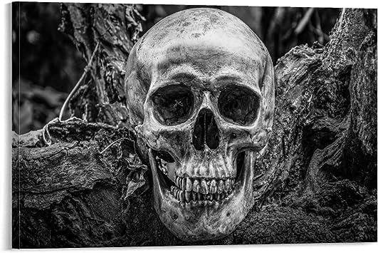 tableau peinture déco murale tête de mort 14