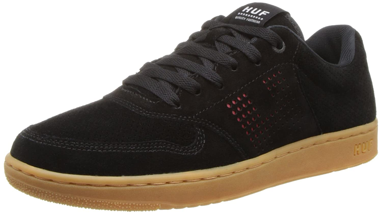 HUF Men's Noble Skateboard Shoe 7.5 D(M) US|Black/Gum