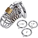 Metal Male Chastity Belt Dick Cage Bird Cage Cock Lock Torture BDSM S&M Men's Chastity Devices cb3000 CB6004 With Three Rings Fit All Sized