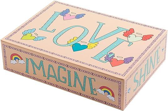 Creibo CBOX009 - Caja Cartón Grande Decorada Love: Amazon.es: Hogar