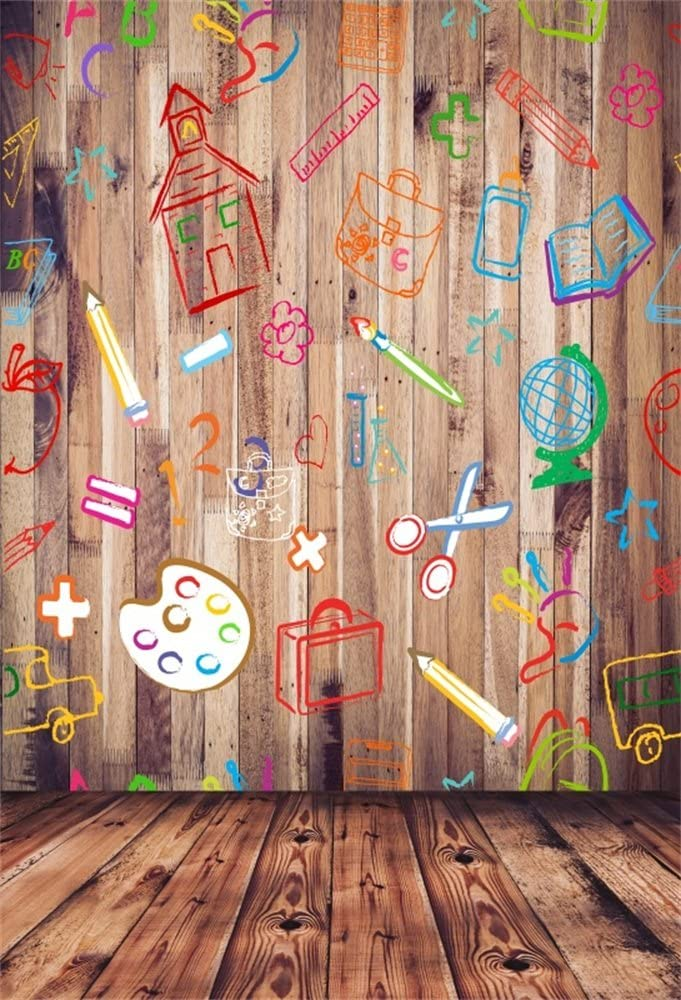 Amazon Com Lfeey 5x7ft Wooden Blackboard Background Hand Drawing Scrawl Kids Child Care Center Students Back To School Photoshoot Wall Photo Backdrop Photography Studio Props Video Drapes Wallpaper Camera Photo