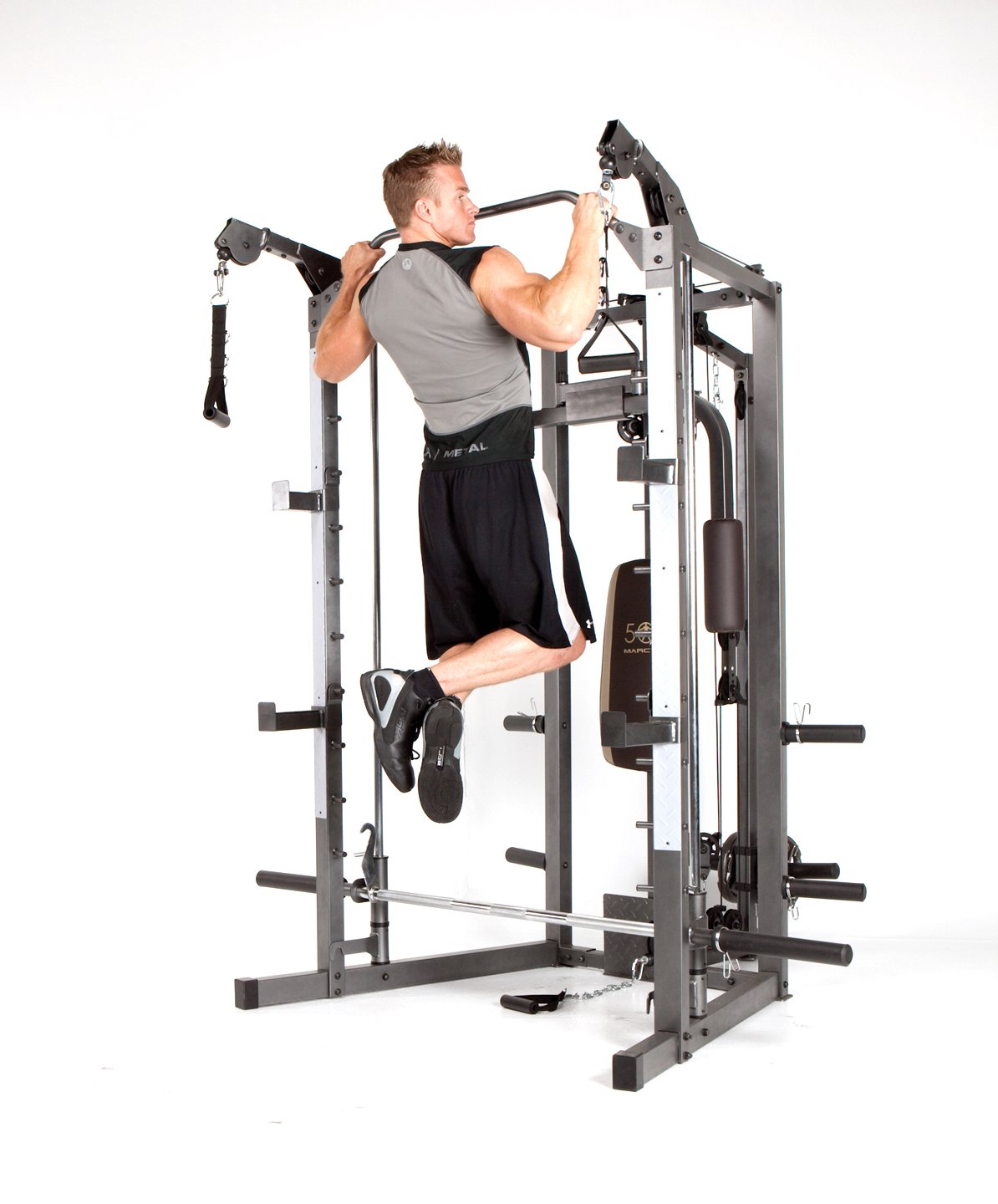 Marcy Smith Machine with Bench and Weight Bar – Home Gym Equipment SM-4008 by Marcy (Image #6)