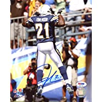 $79 » LaDainian Tomlinson Autographed 8x10 Photo San Diego Chargers PSA/DNA