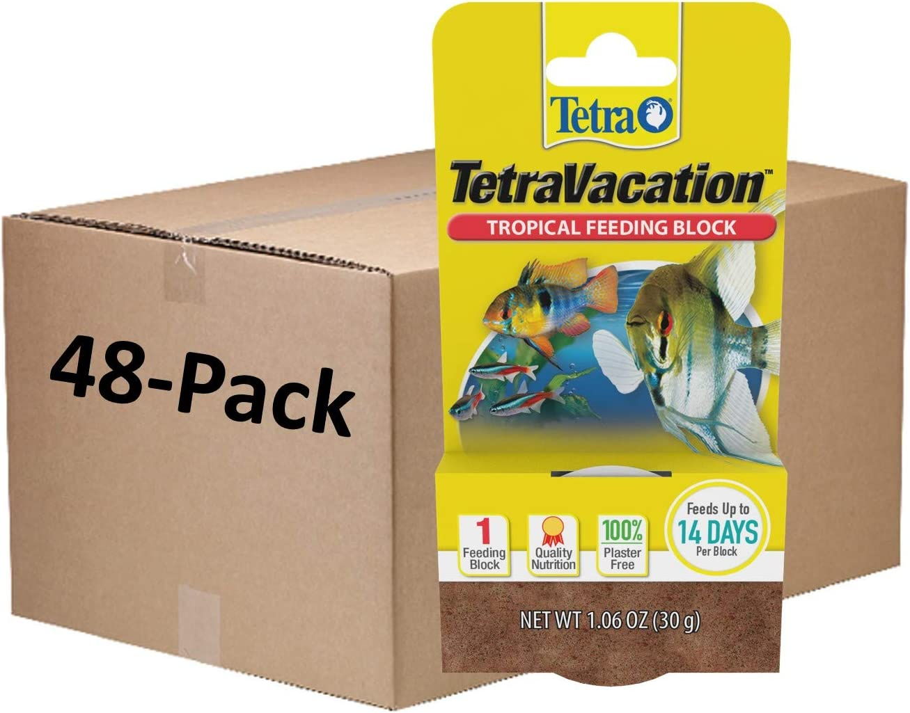 Tetra 77150 Tropical 48 Count Vacation Gel Feeder Block, One Size