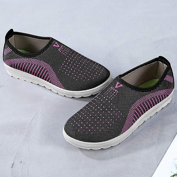 Zapatillas Running Mujer,YiYLunneo Mujer Transpirable Sneakers Shoes Planos Casuales Zapatillas De Deporte Zapatos Perezosos Calzado De Trabajo: Amazon.es: ...