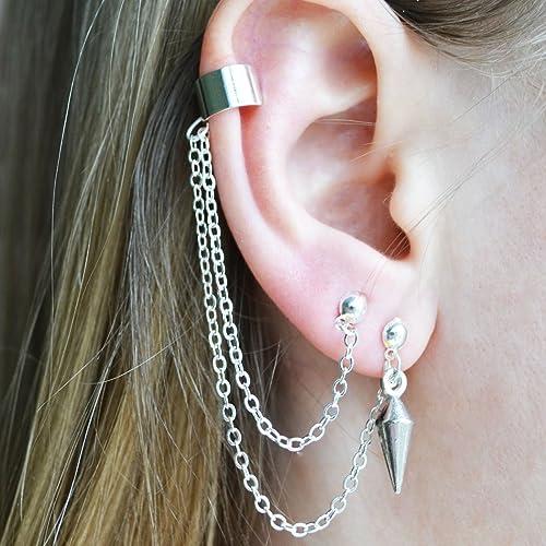 2a65a20685d743 Source:https://www.amazon.com/Asymmetric-Ear-Cuffs -Piercing-Cartilage/dp/B01IU7S9CU