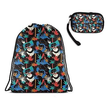 Amazon.com: Bolso negro de pantera para gimnasia o bolsa de ...