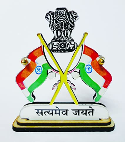 Indian Nation Flag Frame Of Acrylic Material With Satyamev Jayate