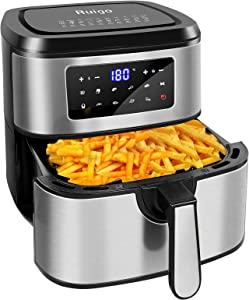 Ruigo Air Fryer, 7.5 Quart 1700W Electric Hot Air Fryers Oven Oilless Cooker with 11 Preset Menus, LCD Digital Touch Screen and Nonstick Easy Clean, Auto Shut Off